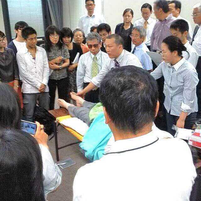 第30回広島県鍼灸学術大会特別講演の鍼灸実技公開の図