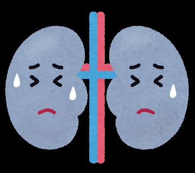 悪い腎臓の図