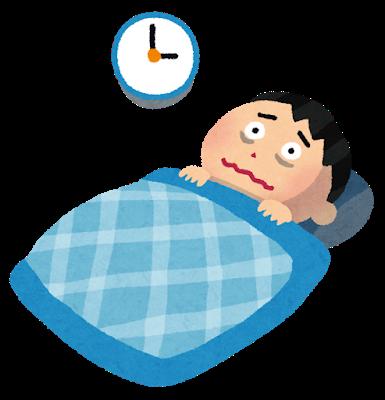 カゼの後期でまだ熱が残っている場合の不眠