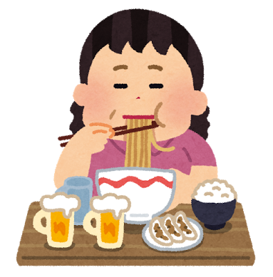 脂っこいもの、甘い物の過食の不眠
