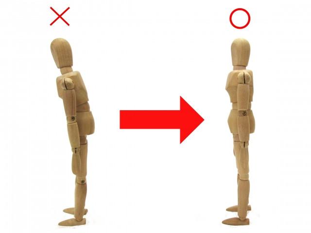 姿勢の悪さも首こりの原因になります